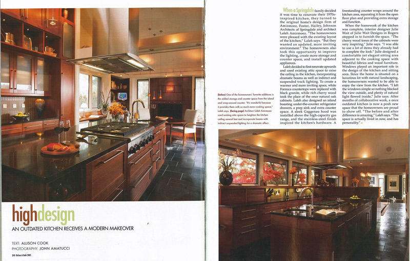 """High Design - A modern Makeover"" - Magazine Featured Article"